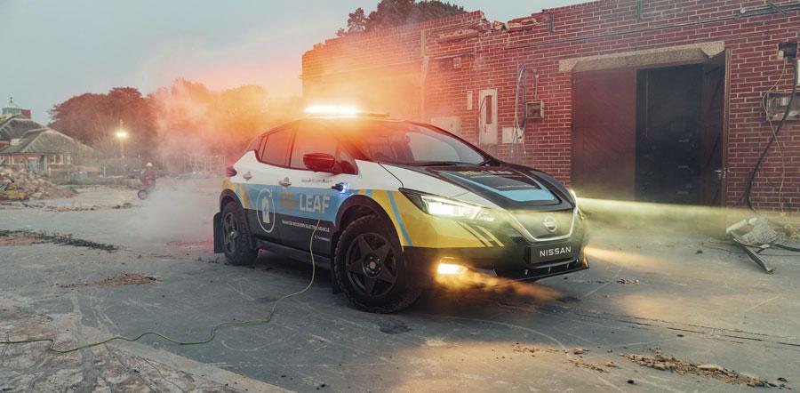 Nissan RE-LEAF: fuente de electricidad móvil para emergencias