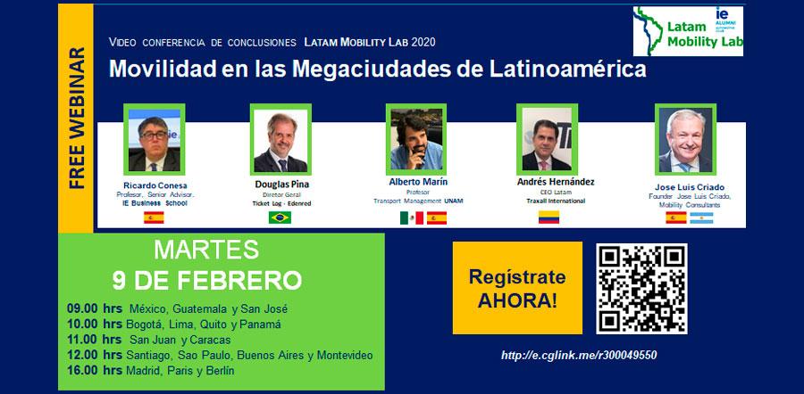 WEBINAR: La movilidad en las Megaciudades de Latinoamérica
